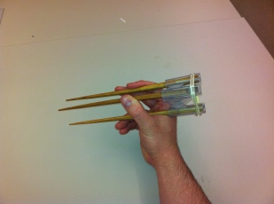 Tri-Chopstick; Stereolithography, Bamboo
